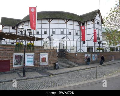 Shakespeare's Globe Theatre, Bankside, London - Stock Photo