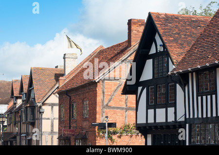 William Shakespeare s birthplace in the market town of Stratford upon Avon Warwickshire England - Stock Photo
