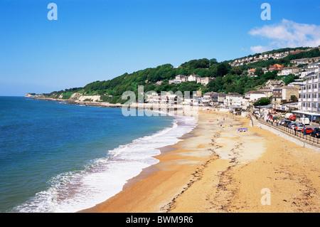 UK England Europe Hampshire Isle of Wight Ventnor Town Ventnor Beach Beaches Sea Seafront Seaside English - Stock Photo