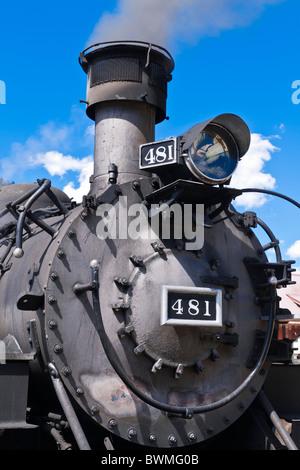 The Durango-Silverton Narrow Gauge Railroad, Silverton, Colorado - Stock Photo