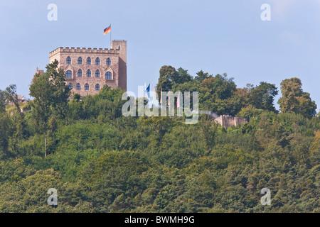 HAMBACH CASTLE, NEAR NEUSTADT AN DER WEINSTRASSE, GERMAN WINE ROUTE,  PFALZ, RHINELAND-PALATINATE, GERMANY - Stock Photo