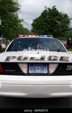 American police squad car. - Stock Photo