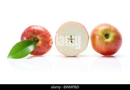 Row of Sliced Apple - Stock Photo