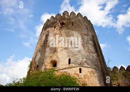 Siyu Fort, Siyu, Pate Island near Lamu Island, Kenya - Stock Photo