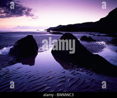 Combesgate Beach near Woolacombe on the North Devon Heritage Coast, England. - Stock Photo
