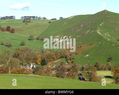 Ilam one of the most visited spots in the Manifold Valley, Peak District National Park. - Stock Photo