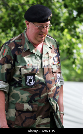 POW MIA You are not forgotten patch on a veteran soldier from Vietnam era - Stock Photo