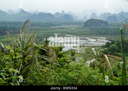 Karst landscape of Guangxi, China - Stock Photo