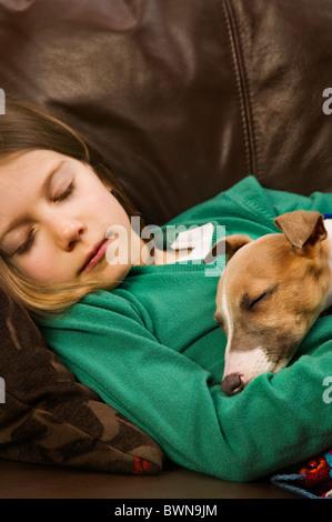Young Girl Age 4 Fast Asleep Holding Stuffed Pig Animal