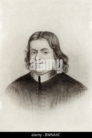 A Reformed Baptist, John Bunyan (1628-1688) was an English writer and preacher best known for his work 'Pilgrim's - Stock Photo