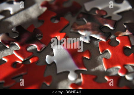 Jigsaw puzzle pieces - Stock Photo