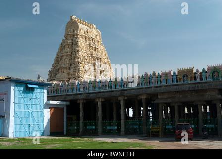 The Sri Ekambaranathar Temples ;represents the Prithvi (Earth) Linga,Shiva;Saivite; kanchipuram; kancheepuram, Tamil - Stock Photo