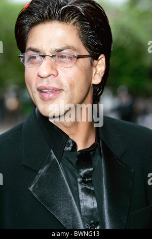 Movie actor Shah Rukh Khan, star of many Indian films, at 'The Far Pavilions' charity performance at Shaftesbury - Stock Photo