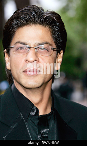 Movie actor Shah RUKh Khan, star of many Indian films, attends 'The Far Pavilions' charity performance at Shaftesbury - Stock Photo