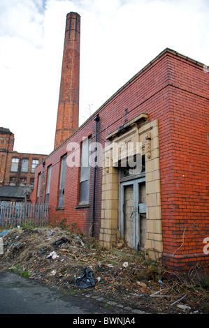 Ruins of  Eckersley  cotton mill,Wigan,England - Stock Photo