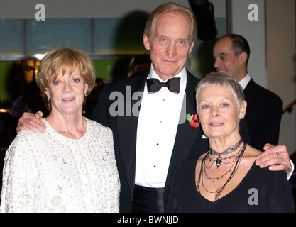 Charles Dance director of 'Ladies in Lavender' with actresses Dame Maggie Smith and Dame Judi Dench in London - Stock Photo