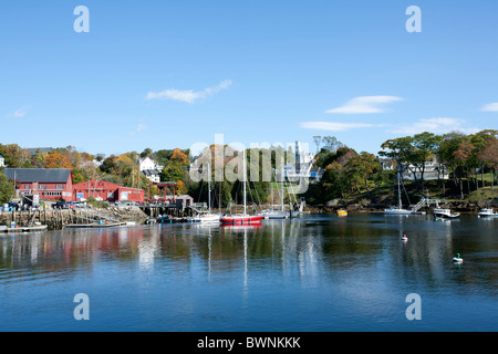 Rockport, Maine is a harbor village on the Down East coast of New England, USA - Stock Photo
