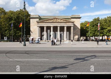 The Neue Wache War Memorial in Berlin, on the Unter den Linden - Stock Photo