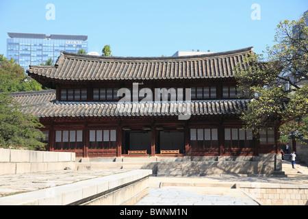 Deoksugung Palace, Palace of Virtuous Longevity, Seoul, South Korea, Asia - Stock Photo