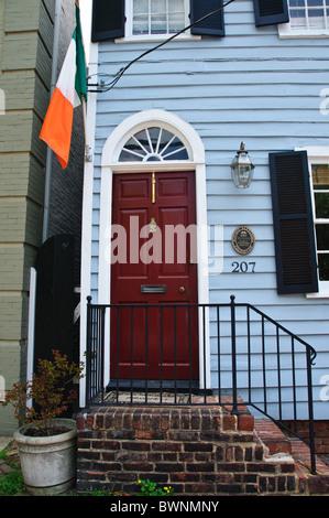 Historic Alexandria Foundation Property, 207 North Royal Street, Alexandria, Virginia - Stock Photo