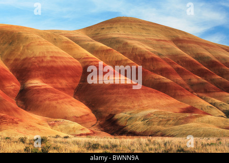 Painted Hills is one of the three units of the John Day Fossil Beds National Monument, located in Wheeler County, - Stock Photo