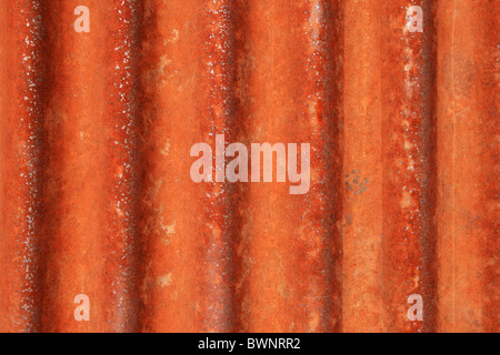 rusted grunge corrugated metal background texture - Stock Photo