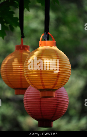 chinese lanturns outdoor party - Stock Photo