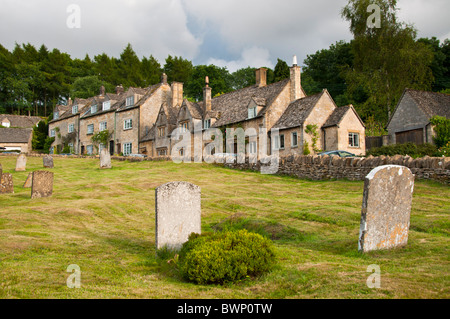 Cotswold stone cottages, Snowshill, Gloucestershire, UK - Stock Photo