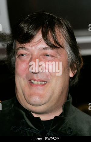 Actor Stephen Fry at the film premiere of 'The History Boys' at the Odeon cinema in Leicester Square, London - Stock Photo