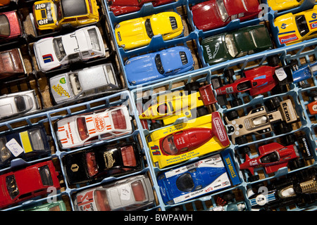Several Model Dinky Matchbox Type Toy cars, Collectors Fair, Manchester, UK - Stock Photo