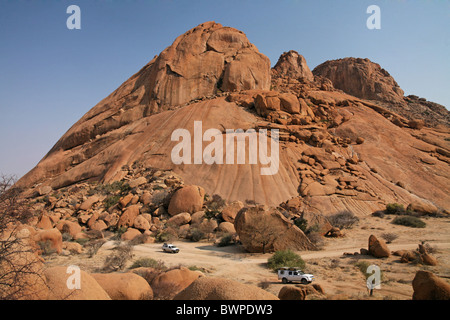 Namibia Africa Mount Spitzkoppe Summer 2007 Africa landscape rocks rock mountain mountains nature desert a - Stock Photo
