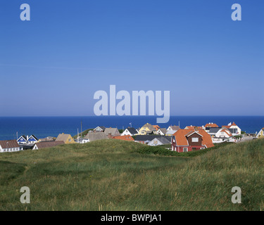 Denmark Europe Lonstrup Jutland Daenemark Denmark Europe dune dunes Europe coast North sea Mross Northern - Stock Photo