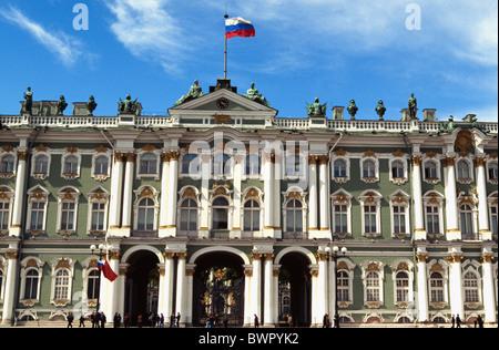 Russia Saint Petersburg Winter Palace State Hermitage Museum Art museum building architecture facade UNESCO W - Stock Photo