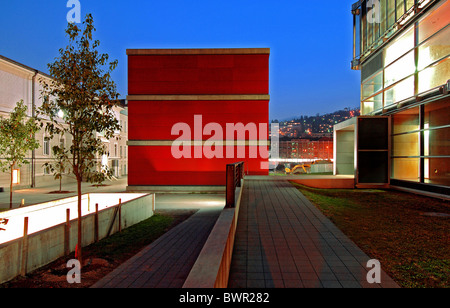 Switzerland Europe Lugano University Canton Ticino architecture modern Sandra Giraudi Felix Wettstein buildin - Stock Photo