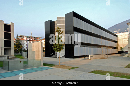 Switzerland Europe Lugano University Canton Ticino architecture modern buildings outdoors - Stock Photo