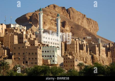 Yemen Al-Hajarayn Wadi Daw'an Region Wadi Hadramaut Hadhramaut Hadramaut South Yemen Arabian Peninsula Middle - Stock Photo