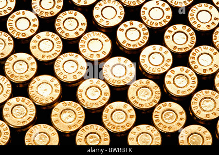 Abundance Aggression Ammunition Brass Bullet Bullets Caliber Close-up Concept Crime Danger Detail Enforcem - Stock Photo