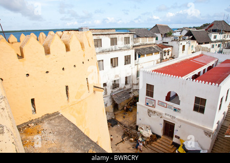 Lamu Fort of Fumo Madi ibn Abi Bakr, Lamu Island, Kenya - Stock Photo
