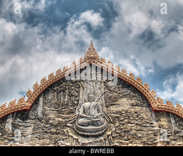 Wat Buppharam temple in Penang - Stock Photo