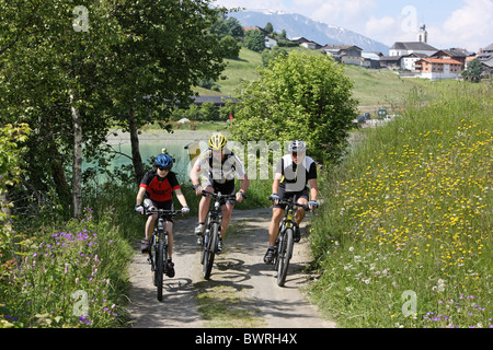 Switzerland Europe Outdoor Outdoors Outside landscape alpine alps mountain mountains Canton Grisons Graubun - Stock Photo
