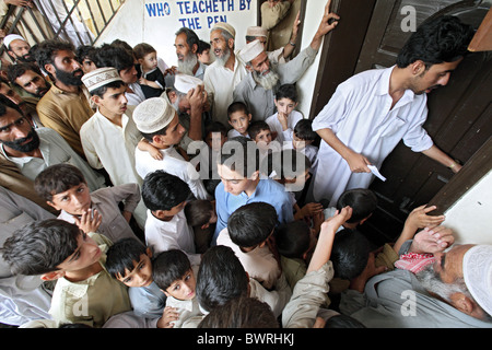 Maltese relief project in a school, Kokarai, Pakistan - Stock Photo