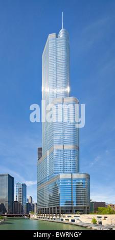 Trump International Hotel & Tower, Chicago, Illinois - Stock Photo