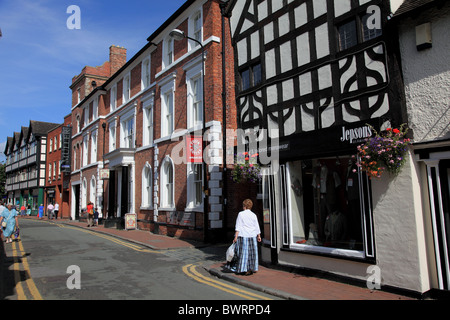 Hospital Street, Nantwich, Cheshire - Stock Photo