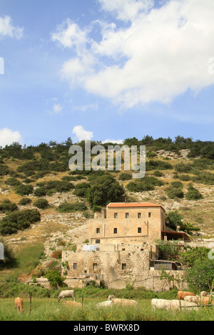 Israel, Lower Galilee, the old Carmelite monks flour mill in Wadi Zippori - Stock Photo