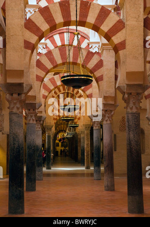 Cordoba, Cordoba Province, Spain. Interior of the Great Mosque. La Mezquita. - Stock Photo