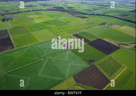 Aerial view of cropping Hunter Valley NSW Australia - Stock Photo