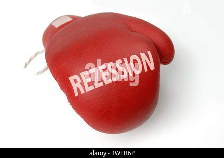 Red boxing glove - Stock Photo