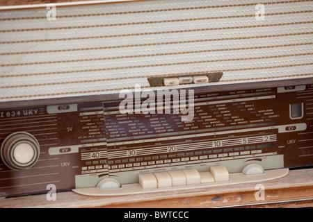 old fashioned valve radio Dubrovnik - Stock Photo