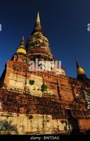 Thailand Ayutthaya Monks at Wat Chai Wattanaram, one of ...