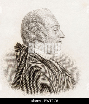Jean-François Marmontel, 1723 to 1799. French historian, writer, and member of the Encyclopediste movement. - Stock Photo